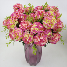 10 Heads Artificial Hydrangea Bride Bouquet Wedding Home Decoration Simulated Flower Party Supplies