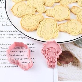 6 шт демон убийца печенье режущие иструменты 3D нажатия аксессуары для выпечки инструменты пекарни Кухня поставки Хэллоуин для рождественской вечеринки