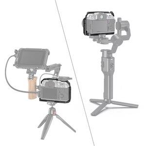 Image 5 - SmallRig X T4 هيكل قفصي الشكل للكاميرا ل فوجي فيلم X T4 سبائك الألومنيوم قفص مع الباردة حذاء جبل/الناتو السكك الحديدية كاميرا فيديو اكسسوارات 2808