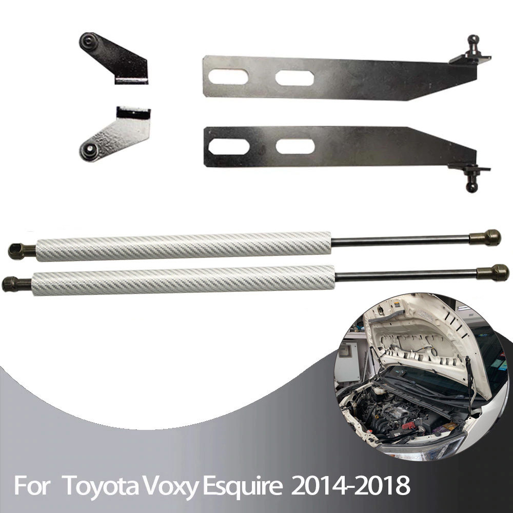 for Toyota voxy 80 Noah R80 2014 -2019 Front Hood Bonnet Modify carbon fiber Gas Struts Gas spring Lift Support Shock Damper