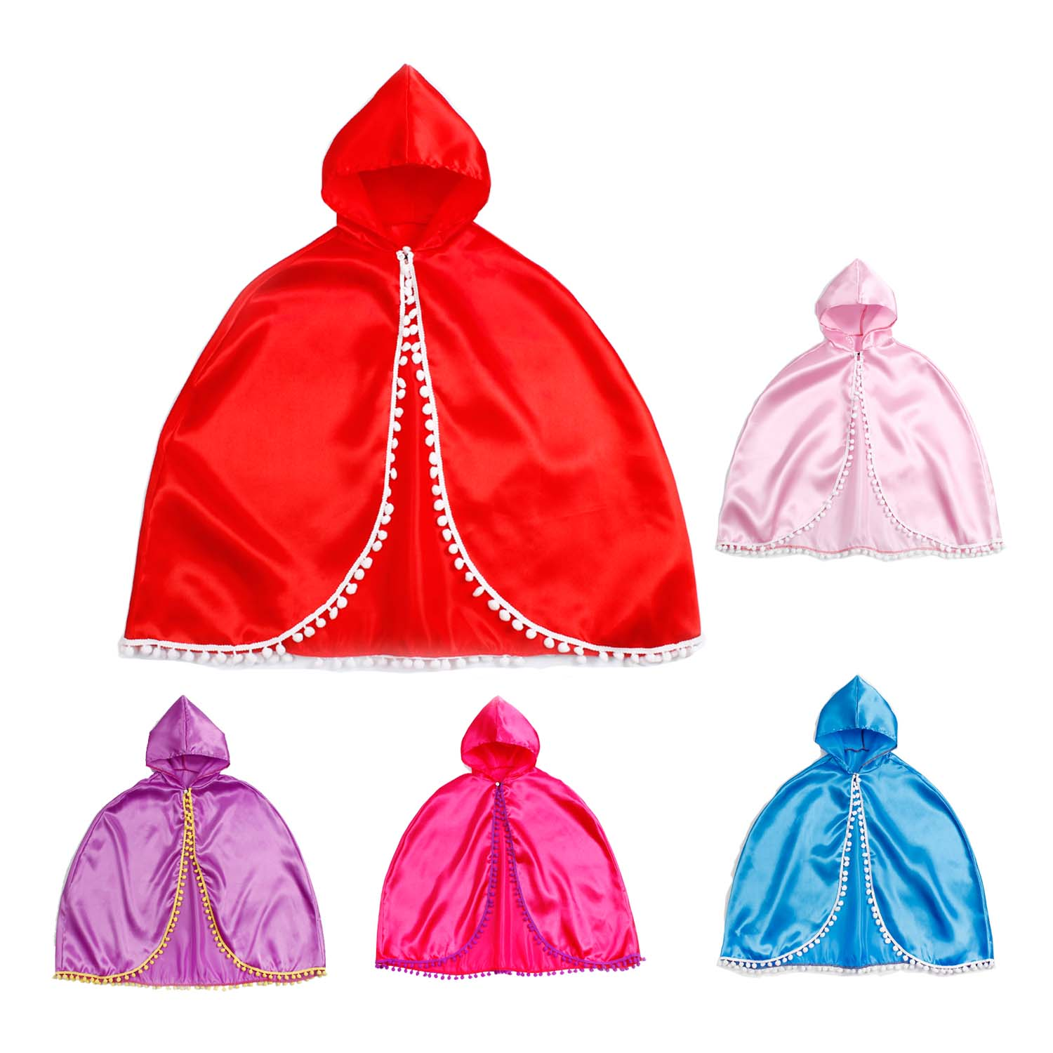 Princess Anna CAPE Capelet Cloak Inspired Child Girl Dress Up Costume Party 3-10