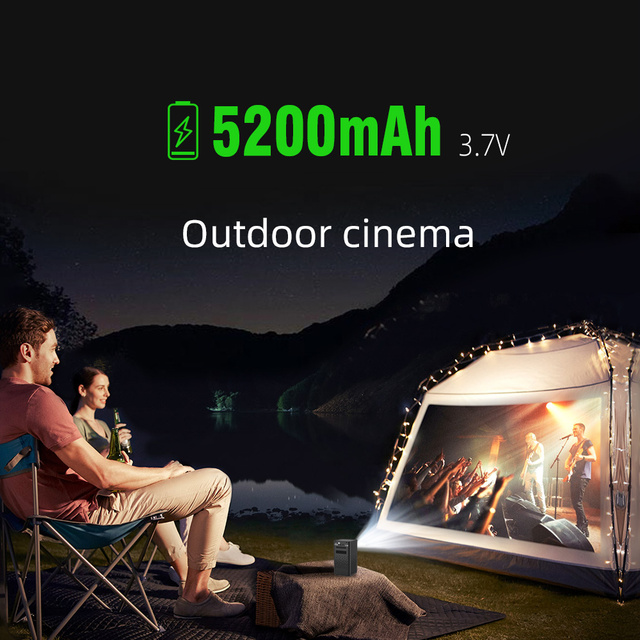BYINTEK P20 Mini Portable Pico Smart Android 1080P LED WiFi DLP Projector 4K Beamer for Smartphone 3D Outdoor Yard Party Sport 5