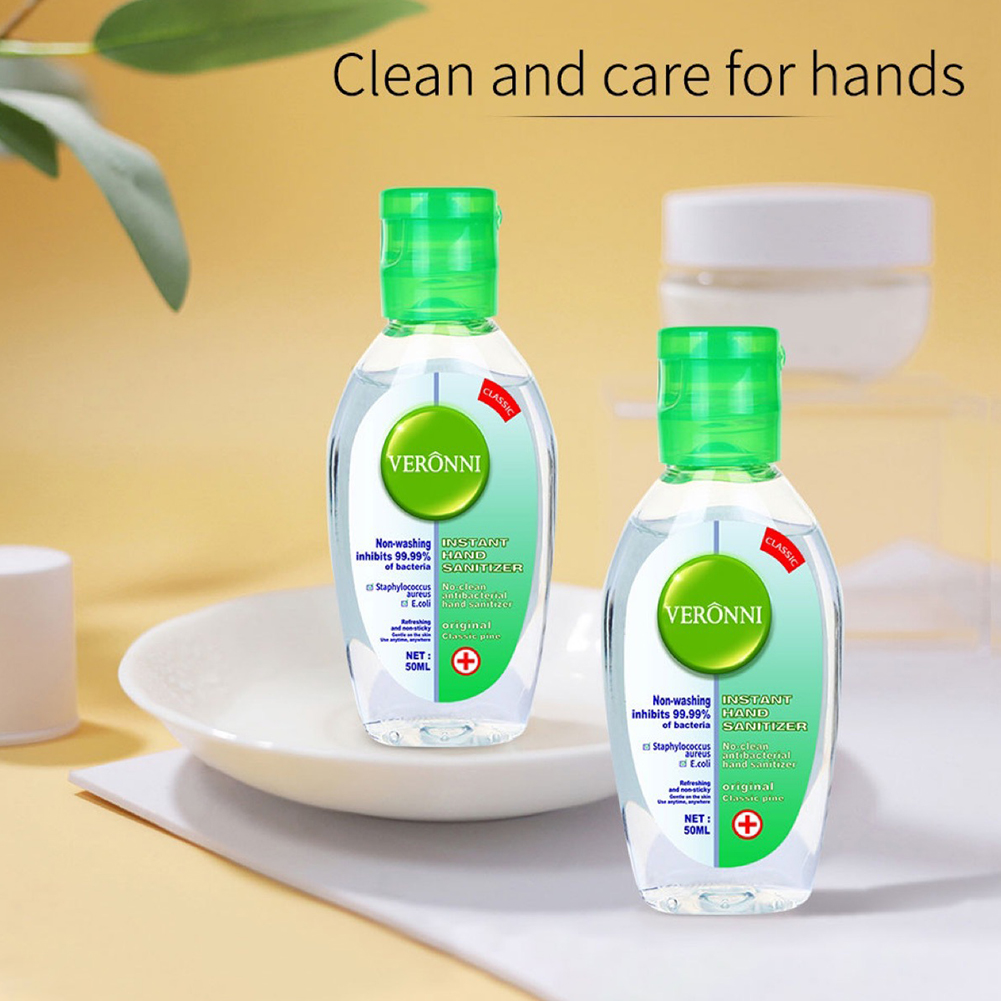 1/2pcs 50ml Non-Washing Disposable Hand Sanitizers Disinfection Portable Hand Soap Bacteriostatic Wash Liquid Gel For Travel