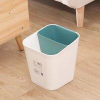 북유럽 분류 쓰레기통 크리 에이 티브 두꺼운 플라스틱 가정용 주방 쓰레기통 다기능 방수 정렬 쓰레기통 휴지통    -