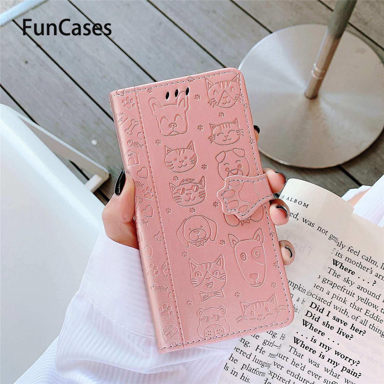 Cute Dog Book Cases For <font><b>Samsung</b></font> S20 Plus Phone Bag Galaxy S10 Lite A70 A71 A40 A50S A80 <font><b>A30</b></font> A20 A30S A90 A50 S10E A70S A51 Ultra image