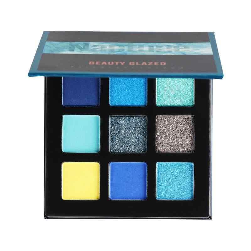 9 צבעים צלליות צבעים הנוצץ גליטר בהיר מגניב צבע או חם צבע לאורך זמן עמיד למים איפור שמנת Eyeshado פיגמנט