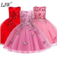 Crianças vestidos para meninas flor bordado tutu crianças roupas elegent miçangas meninas vestidos para crianças princesa festa custumes