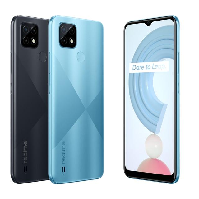 Global Version realme C21 Smartphone Helio G35 Octa Core 6.5'' inch Screen 5000mAh Massive Battery 3-Card Slot 13MP Camera 6