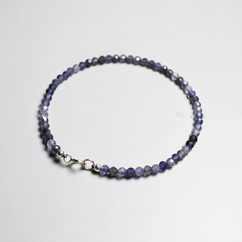 Iolite beaded bracelet