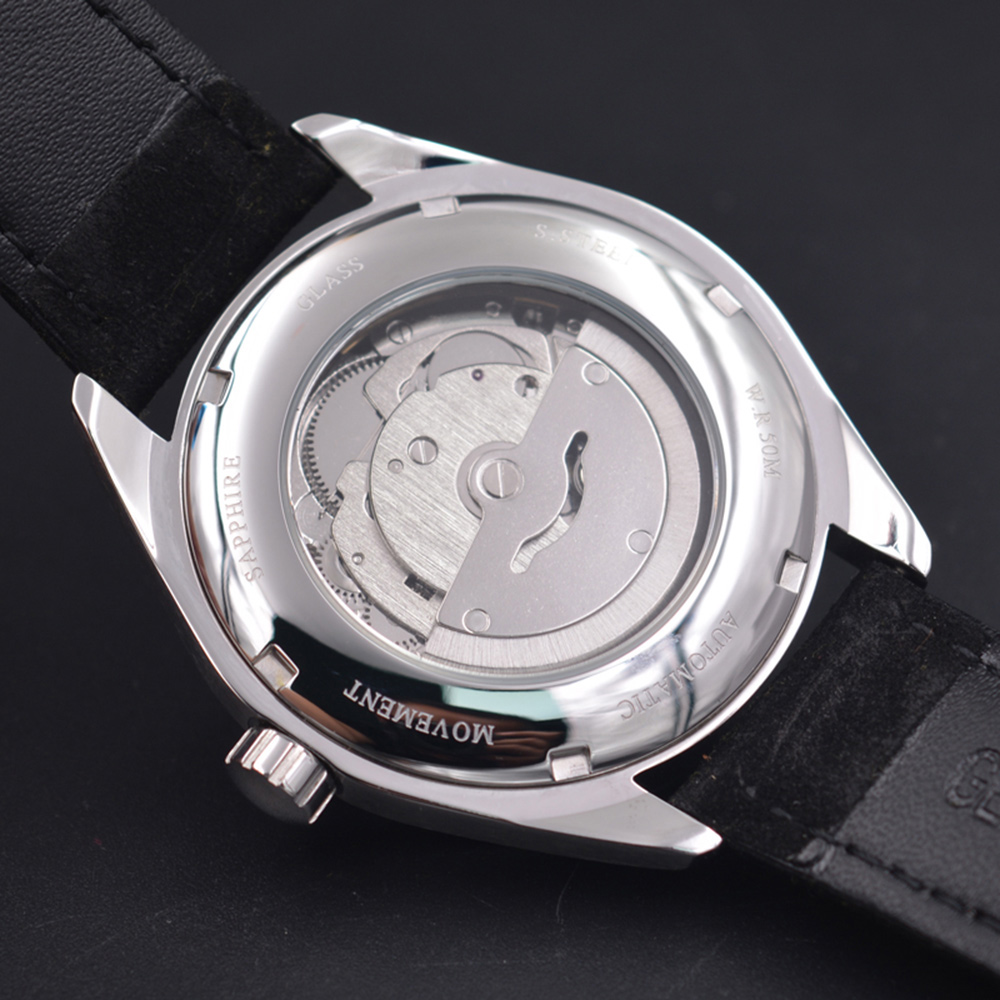 Corgeut 41mm Automatic Mechanical Mens Watch Leather Strap Luxury Brand Sapphire Luminous Waterproof Clock Casual Wristwatch Men 6
