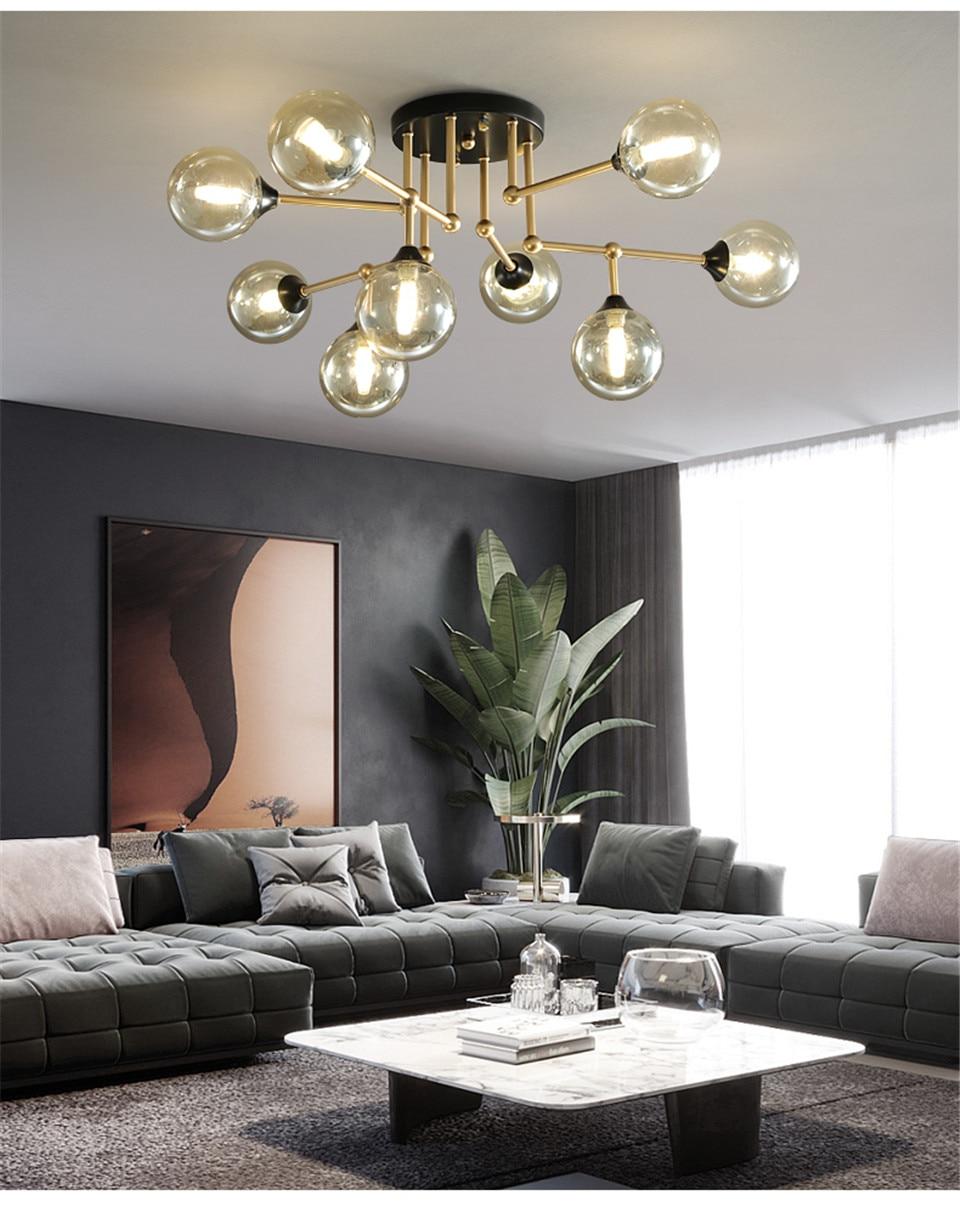 Luxo lustre de vidro led lustres teto