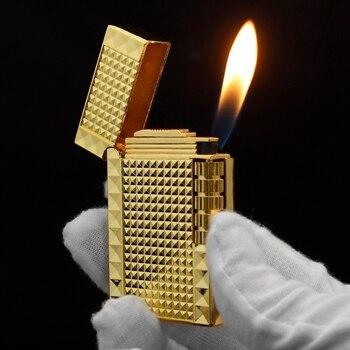Buy Lighters Funny Flints Gas Lighter Mini Metal Butane Funny Cigarettes Accessories Cigar Smoking Lighters 1