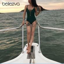 Belleziva, женский сексуальный цельный купальник с открытой спиной, монокини, купальник, бандаж, купальные костюмы, пляжная одежда