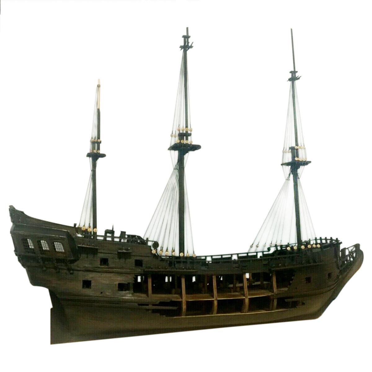 1:50 DIY Handwerk Holz Boot Modell Kit für Schwarz Perle Segeln Schiff für s der Karibik Montage Boot modell kit - 2
