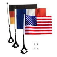 14x21cm Per Bambini Manubrio Bandiera di Riciclaggio Della Bicicletta di Sicurezza Bandiere Banner Sign con Morsetto di Montaggio Pinze