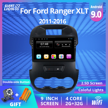 цена на Car Multimedia System 2din Android 9.0 Car Radio For Ford Ranger Xlt 2011-2016 GPS Navigation Audioradio 2din Car DVD Player