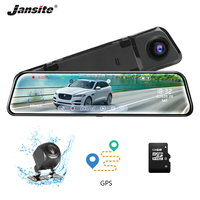 Jansite 12 inch Stream Mirror Car DVR Dual Lens Video Recorders GPS track playback Touch Screen Car Cameras Dash Cam Time lapse