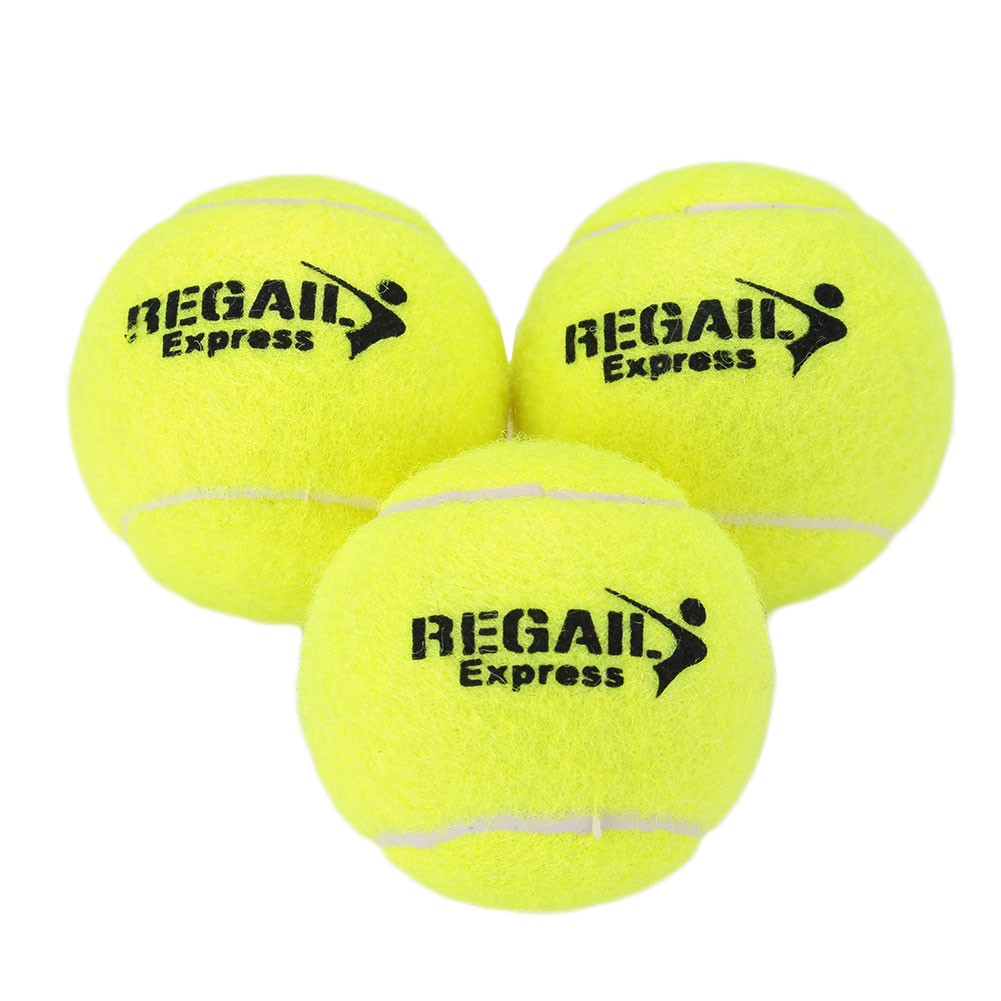 1/3/5pcs Training Competition Tennis Ball High Elasticity Vanilla Green Universal