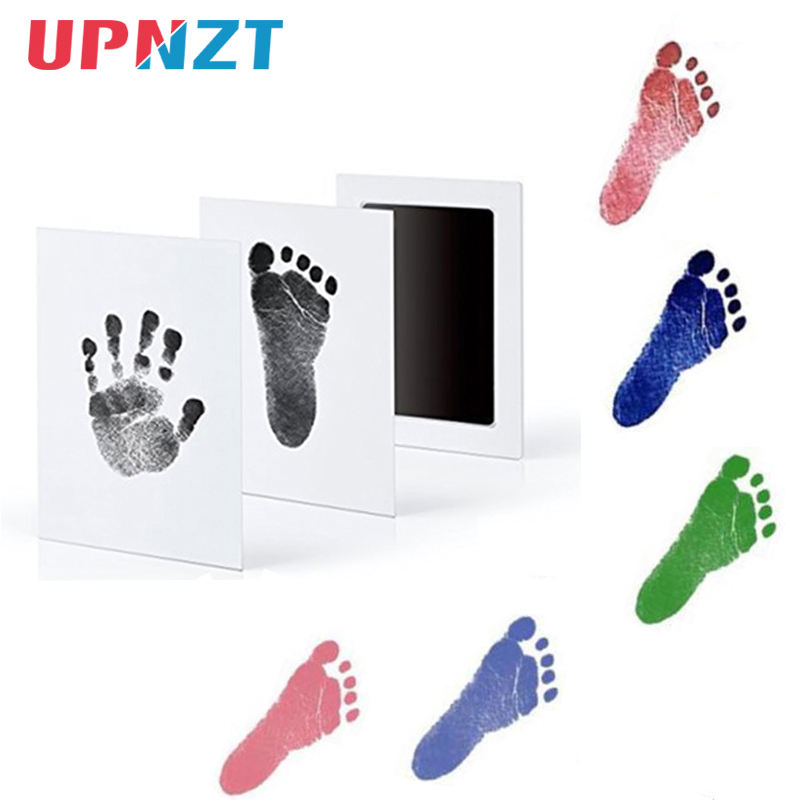 Infant Baby Handprint Footprint Non-Toxic Newborn Imprint Hand Inkpad Watermark Infant Souvenirs Casting Clay Toys Gift 0-6M