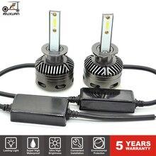 FUXUAN CSP Chip H4 H7 Led Car Headlights Bulbs 6000K H8 H1 HB3 9005 HB4 9006 60W 3D 360 degree Automotive Fog Lights Auto Lamp