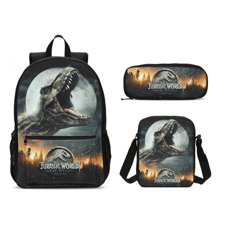 2019 sacs à dos d'école de dinosaure Jurassic Park Jurassic World Dragon sacs d'école décontracté és pour adolescents garçons Mochila enfants Bookbag