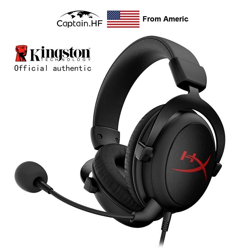 Usa kapitan PRO Hyper X chmura rdzeń gamingowy zestaw słuchawkowy, na PC, laptopy, gra wideo konsoli, słuchawki douszne do Kibersport graczy