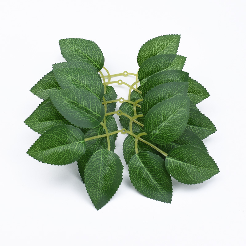 10pcs Rose Leaves Silk Leaf Christmas Decorations For Home Wedding Bride Wrist Decorative Flowers Artificial Plants Diy Gift Box