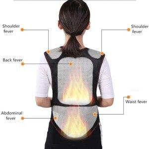 Image 3 - Турмалиновый самонагревающийся магнитный терапевтический пояс для поддержки талии, жилет для плеч, жилет, теплый жилет для лечения боли в спине