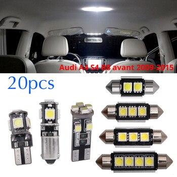 20 piezas Canbus blanco coche Interior lámpara LED Kit de luz para Audi A4 S4 B8 Avant 2009-2015