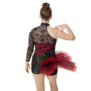 Image 2 - 소매 도매 여성 그릴 라틴 재즈 발레 레오타드 투투 스팽글 나일론/라이크라 레이스 댄스웨어