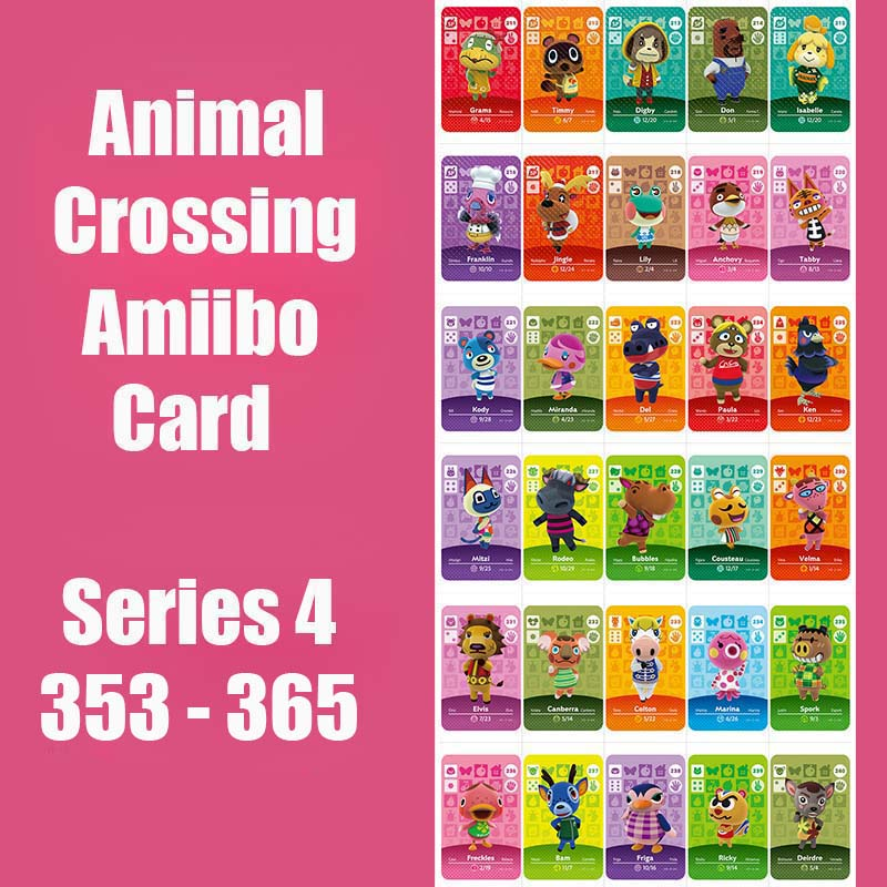 Series 4 #353-365 Animal Crossing Card Amiibo Card Work For NS 3DS Games Series 4 Dropshipping Animal Crossing Amiibo Card