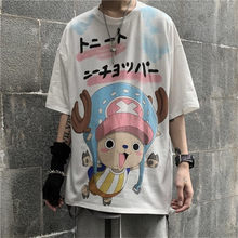 Roronoa Zoro Luffy Tshirt Streetwear Men Shirts White Summer Cartoon One Piece T Shirt Fashion Chopper Japan Hip Hop Tshirt Male