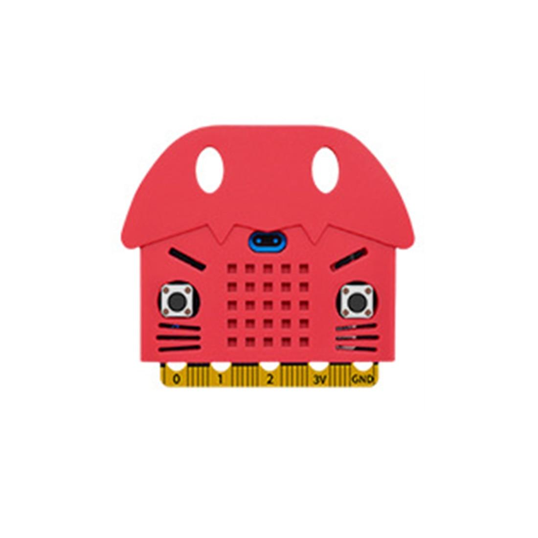 Экологичное уплотнение/тигр/в форме кота силиконовый защитный корпус Крышка корпуса для Micro: Плата расширения бита Bue/красный/оранжевый - Цвет: 4