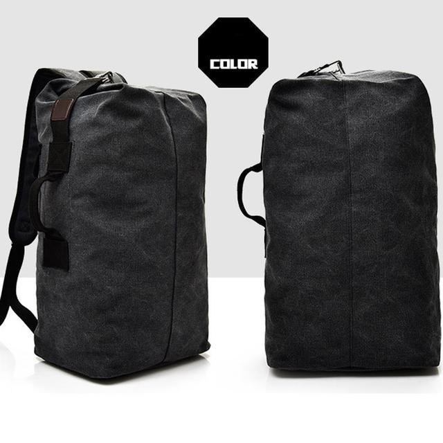 Traveling Backpack Backpack Field Survival Camping Bag High Capacity Canvas Men Outdoor Travel Outdoors Practical Picnic 3