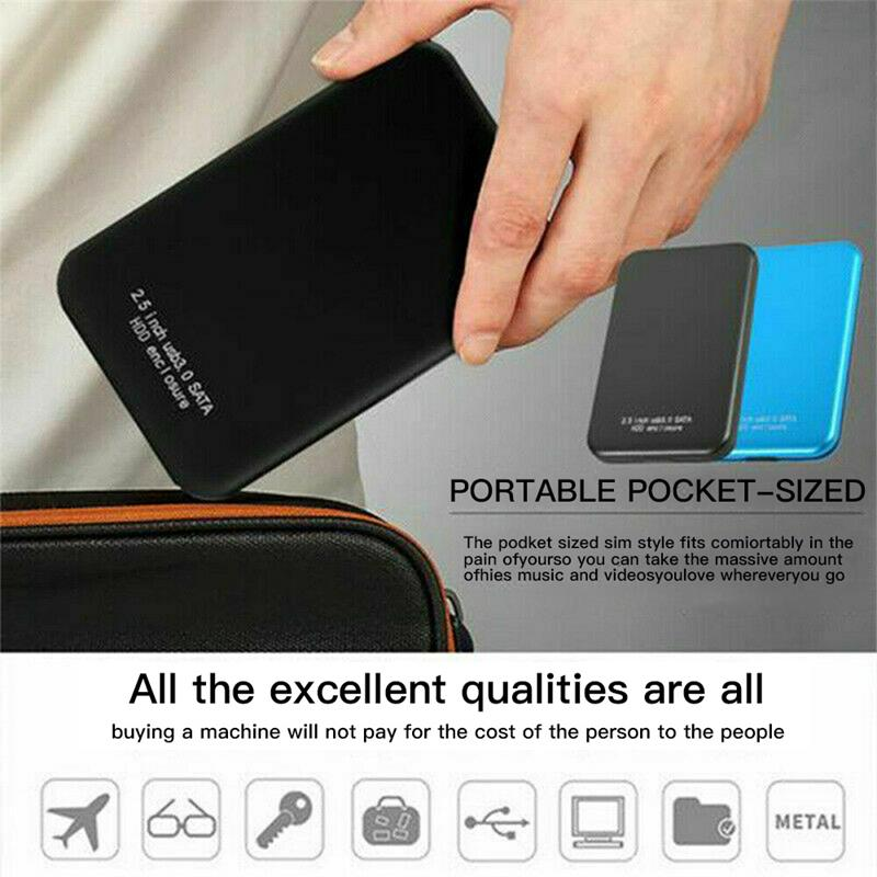 HDD 2.5 inch Portable External Hard Drive 2TB/1TB/500GB HD Externo Mobile Hard Disk Drives USB 3.0 Storage For Desktop Laptop 2