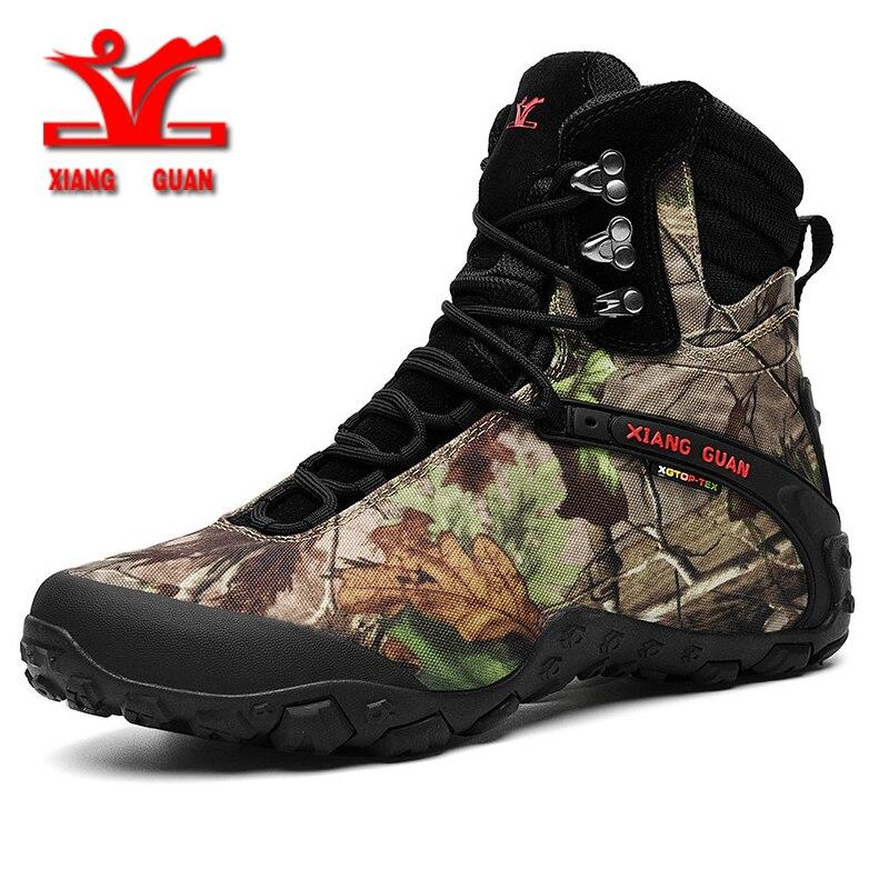 RAX мужские водонепроницаемые треккинговые ботинки Горные походные ботинки из натуральной кожи мужские дышащие водонепроницаемые треккинг... - 5