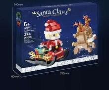 Novo 2020 elf clube casa neve inverno casa santa árvore transporte castelo amigos blocos de construção presentes natal para crianças brinquedos