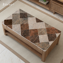 Luxury Retro Household Table Decoration Mat Imitation Marble Tablecloth Plastic Pad PVC Waterproof Placemat Coffee
