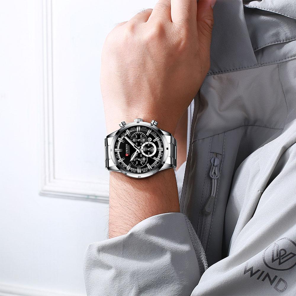H188827db5b5d45fe84081d029d35f79eS CURREN New Fashion Mens Watches Quartz Chronograph