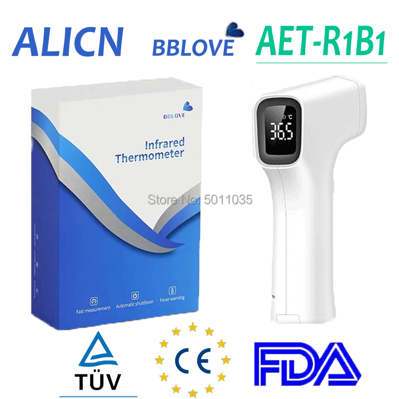 Wholesale Alicn Infrared Thermometer Medical Shenzhen Bblove AET-R1B1 R161 Digital Thermometer CE FDA Certificated Approved TUV