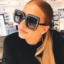Fashion Oversize Square Sunglasses Top Luxury Brand