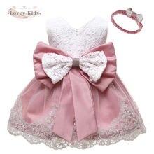 Зима 2020 платье для новорожденных девочек кружевные платья