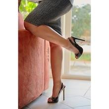 Onlymaker de las mujeres sandalias Peep Toe zapatos de las señoras 12cm tacones punta abierta Sexy sandalias Oficina de moda bombas de talla grande US5 ~ US15