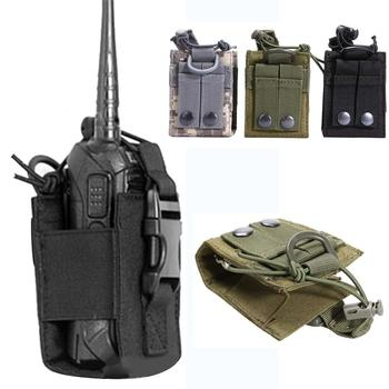 1pcs Package Pouch Walkie hunting Talkie Holder Bag Tactical Sports Pendant Military Molle Nylon Radio Magazine Pocket - discount item  13% OFF Hunting
