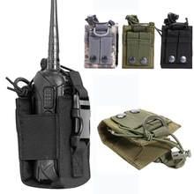 Avcılık kılıfı Walkie avcılık Talkie tutucu çantası taktik spor kolye askeri Molle naylon radyo dergisi kılıfı cep