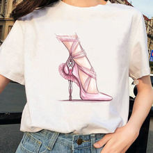 Женская уличная обувь Стиль футболка с короткими рукавами хлопковая