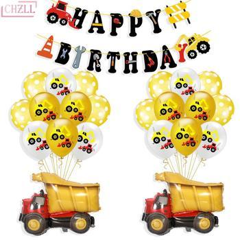 CHZLL 10 piezas camión globos excavadora globo látex Tema del coche Baby Boy Shower fiesta de cumpleaños decoración de la Ducha del bebé