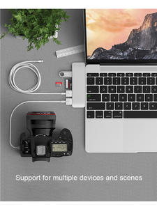 Hub-Docking Stations Macbook Dual-Type-C To TF Air HDMI USB Pro Support 4K Sd-Card-Reader