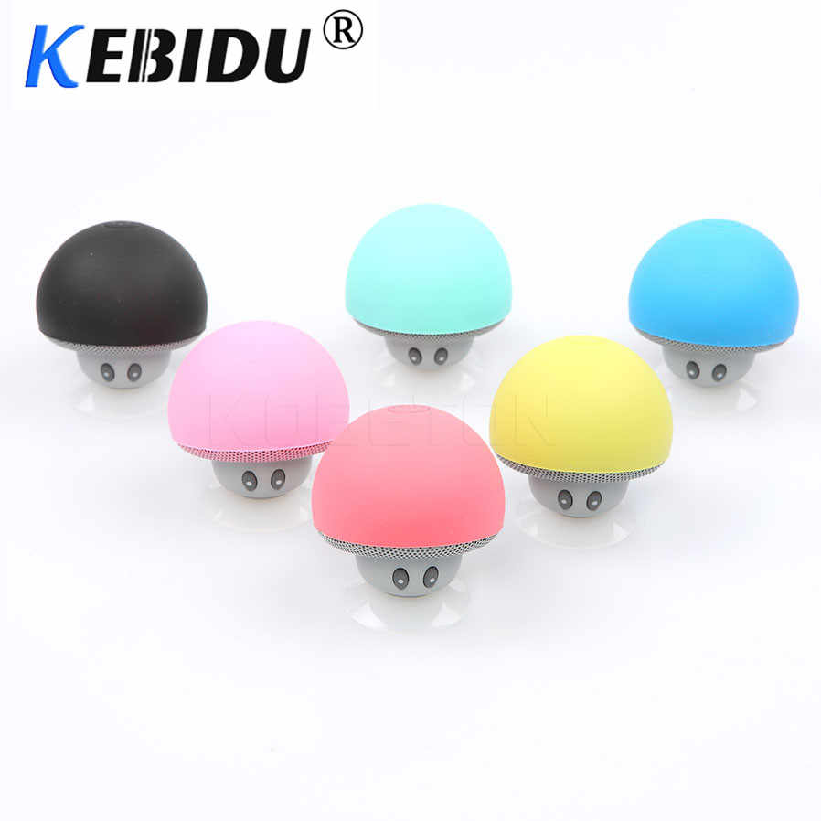 Kebidu Mini Nirkabel Bluetooth Speaker Jamur Portable Tahan Air Shower Stereo Subwoofer Musik Player untuk iPhone Android