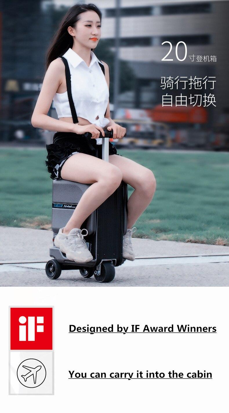 caso apenas 7.5 kg scooter cabine continuar